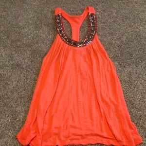 Vanity brand. Orange/pink size small